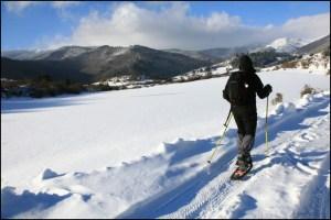 Nieve en La Sierra de Madrid - Raquetas en la nieve