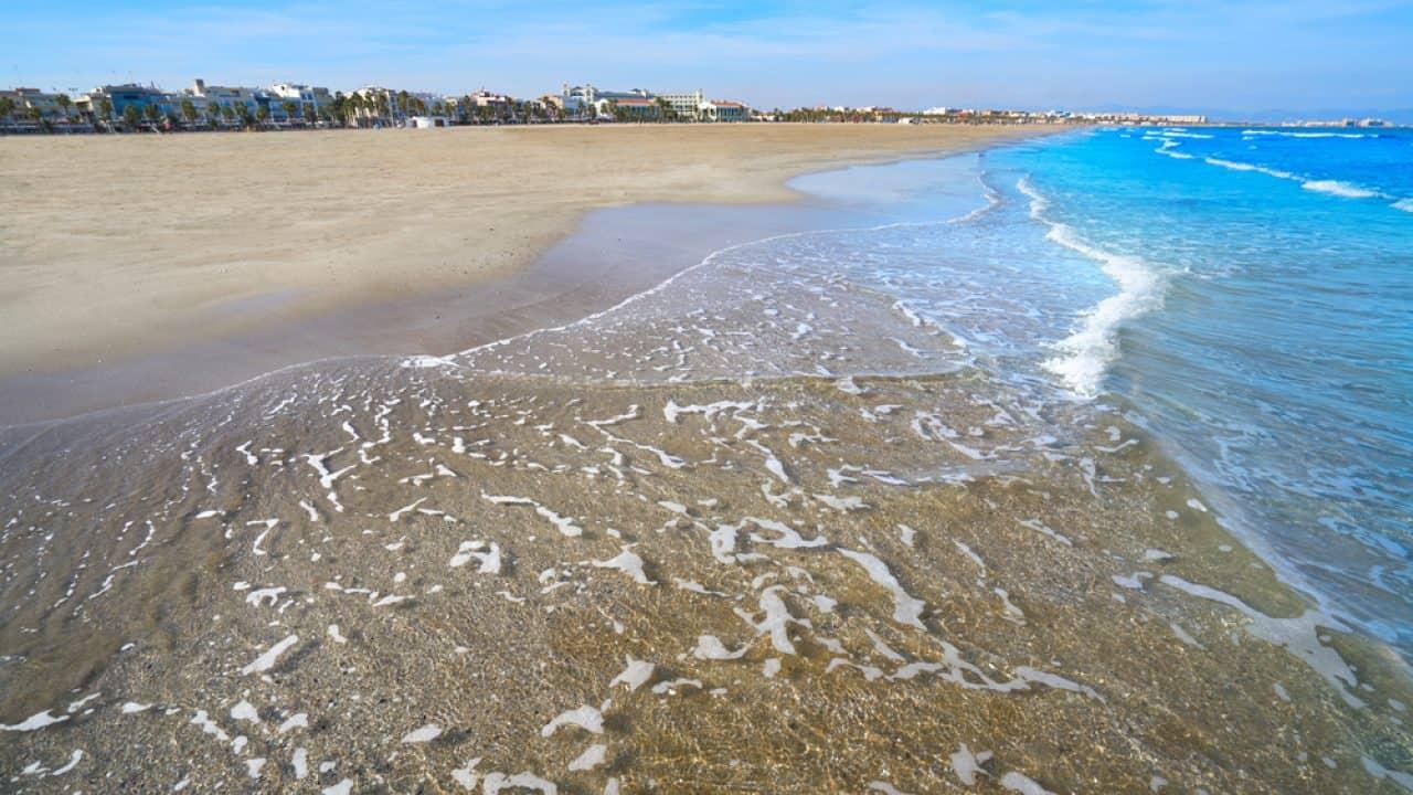 Playa de la Malvarrosa-Qué visitar en Valencia esta Semana Santa 2021